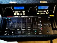Complete Pro DJ Disco Sound System, Cd Player, Mixer, Amp, Speakers, Mic, Cables, Case