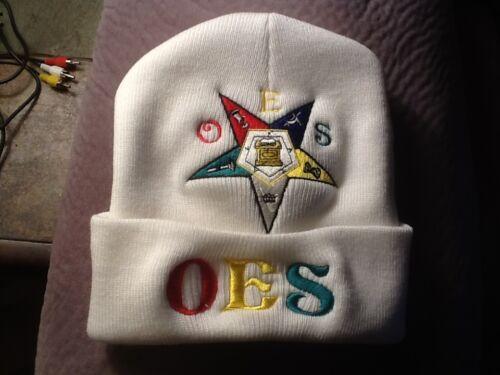 O.E.S Winter Beanie, Order Of Eastern Star White Black or Red