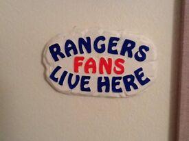 Football wall plaques Rangers Celtic