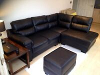 free to collector, Half of black leather corner suite