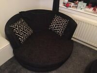 XL cuddle chair and footstool