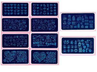 Valentine's Day Nail Art DIY Stamping Metal Template Stencil Image Plate QJ - Valentine Diys