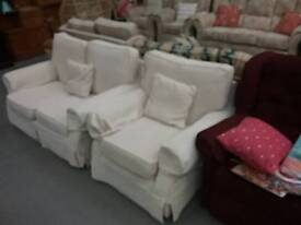 Fabric sofa and chair