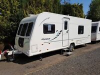 Bailey Olympus 534 4 Berth caravan 2012, FIXED BED, Awning, motor mover fitted VGC Bargain !!!