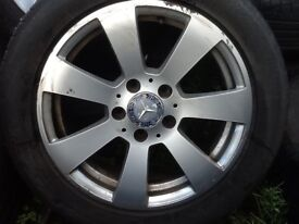 16INCH 5/112 GENUINE MERCEDEZ ALLOY WHEELS WITH TYRES FIT MOST MODELS