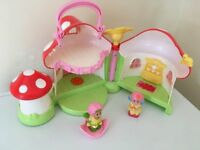 ELC Happyland toadstall cottage and figures £10 for all collection from Shepshed.