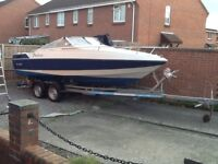 This boat is 23ft long in great condition with a great trailer new winch a must sea