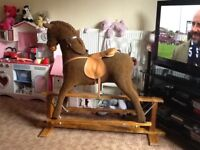 For sale. Big mamas and papas rocking horse good condition