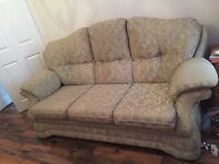 Shabby Chic/Vintage Style 3 Seater Sofa & Chair