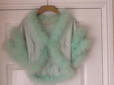 Glamorous vintage Charles Grahame bed jacket bolero cape size 10 approx  c 1970