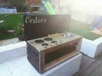 Handmade mud kitchens