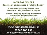 MCM Gardeners - gardening services in the Scottish Borders