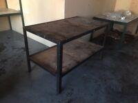 Workshop metal frame work bench heavy duty Solid frame garage etc