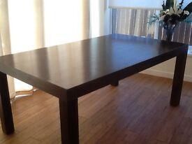 "6' x 3'6"" Dark Mango Wood Dining Table"