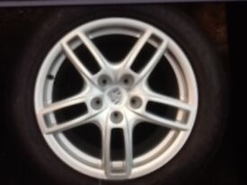 Genuine 19 inch Porsche Cayenne Alloys With Good Tyres For Sale
