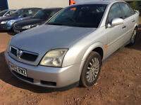 2002 02 VAUXHALL VECTRA1.8 LS 16v MOT 08/17 SILVER (CHEAP PART EX TO CLEAR)
