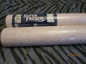 SUPER FRESCO PINK WITH WHITE MARBLE EFFECT WALLPAPER X 2 STILL SEALED