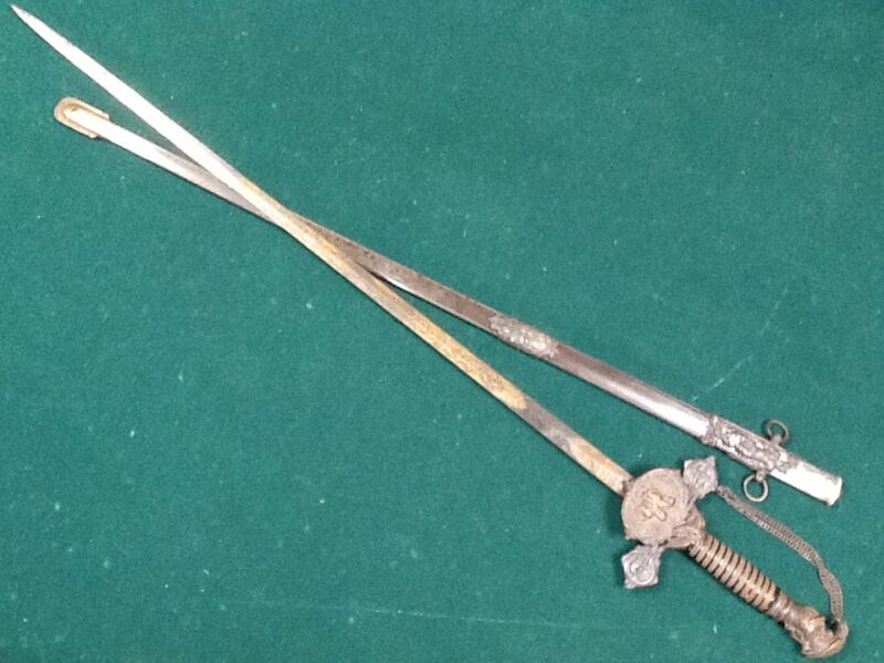Antique fraternal Knights of Pythias Sword early version Schuyler Hartley graham