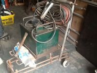 Old Arc Welder Oxford 125amp complete with leads etc.