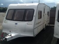 2005 Bailey senator Oklahoma fixed bed with awning 4 berth