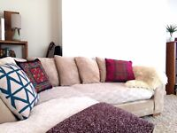 Lovely light furnished flat for short term lease over 1st February and March 20th period.