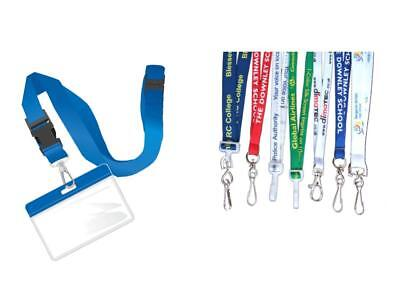 100 Customized Lanyards with Logo |Business Lanyards| Lanyards for Trade Shows