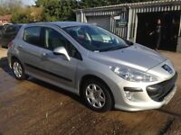 ** NEWTON CARS ** 08 PEUGEOT 308 1.4 S, 5 DOOR, 65,000 MLS, GOOD OVERALL, MOT OCT 2018, P/EX POSS