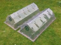 Garden Plastic Ventilated Cold Frames (2 off)