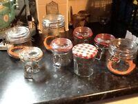 Large amount of jars