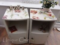 Pair of Hand Painted Bedside Cabinets : : Annie Sloan Original : : Laura Ashley