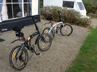 Pair of Folding Bikes For Sale - Hardly Used