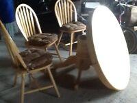lovely pine beachwood expanding dinning table