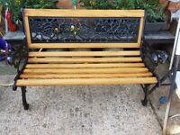 Beautifully restored cast iron bench