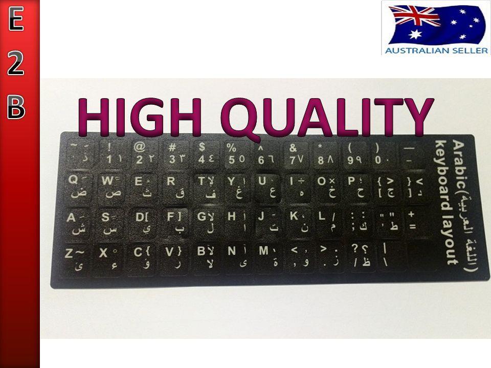 QUALITY ARABIC KEYBOARD STICKERS WHITE LETTERS WATERPROOF | eBay
