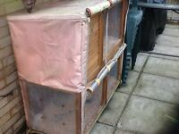 Rabbitshack 2 tier Rabbit or Guinea pig hutch with cover