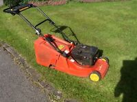 "Wolf Lawn Mower with Rotary 16"" blade and rear roller for stripped effect"