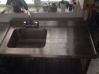 stainless steel kitchen unit
