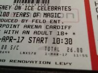 6 tickets to see disney on ice in cardiff