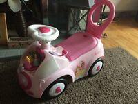Girls Disney Princess Ride On / Push along Car