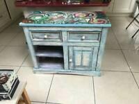 Shelf unit free standing (vintage furniture)