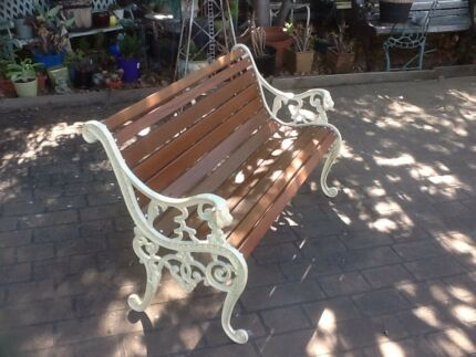 Restored Lions Head feature bench seat
