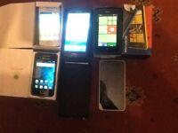 5 x Mobile Phones Nokia/Samsung/Microsoft