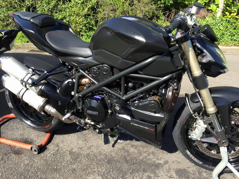 2014 Ducati Streetfighter 848 Black Matte 4040 Mi Alarm Tracking Device