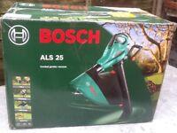 Bosch ALS 25,corded garden vacuum, new in box.