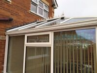 conservatory windows/units/roof blinds 3 x 3 mtrs