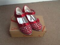 Kelsi girls ruby red party shoes size 2