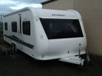2012 hobby vip 645 fixed bed 5 berth twin axel with fitted mover