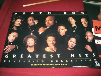 Death Row Greatest Hits Promo Poster 2pac vintage 1996 NEW MINT Snoop Dre Tupac