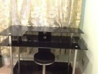 Jual Classic PC001 Large Rectangular Black Glass desk