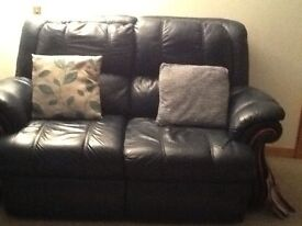 2/2 two seater navy sofas in excellent condition will sell separately